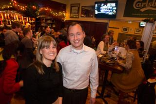 Board member Kevin Acklin with project co-chair Lindsay Patross